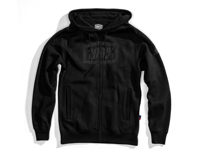 100% Syndicate Veste à capuche Zip Homme, black/black foil